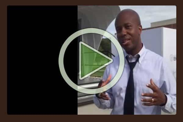 Oak Ridge National Laboratory scientist, Roderick Jackson, explains the features of Additive Manufacturing Integrated Energy demonstration project, including the 3D printed home and the 3D printed SUV.