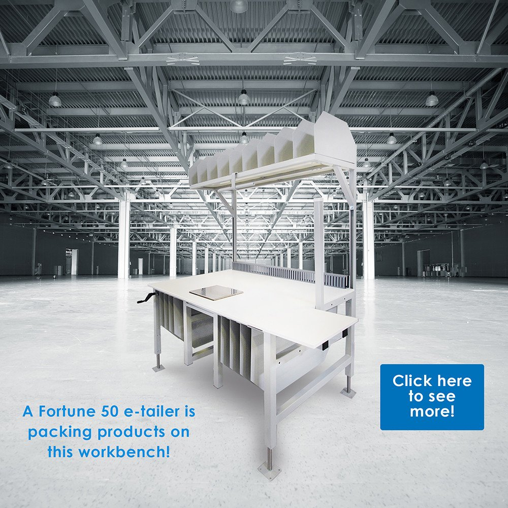 formaspace packing station in warehouse