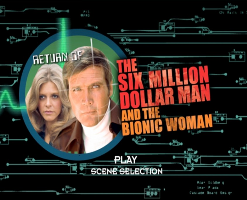 The 6 Million Dollar Man & The Bionic Woman Main Menu Title, image by Pink Pigeon