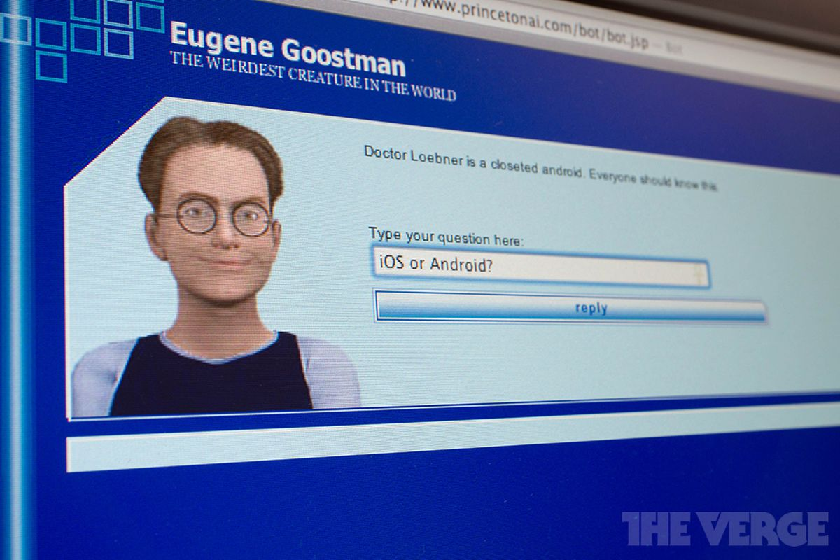Eugene Goosman, Chat Robot that Passed Turing Test, image by the Verge