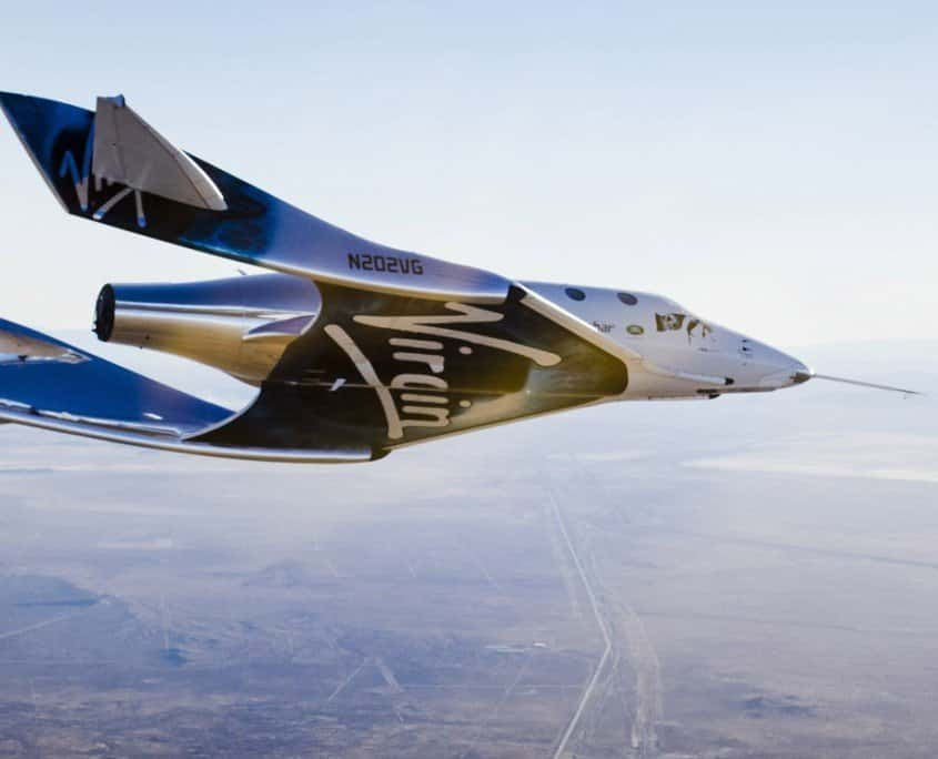 Virgin Spaceship Unity (VSS Unity) glides for the first time after being released from Virgin. Image by extremetech.com