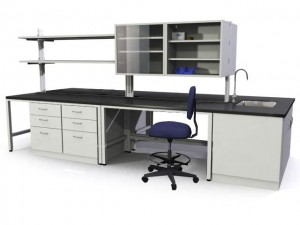 Wet Lab with Upper and Lower Cabinets