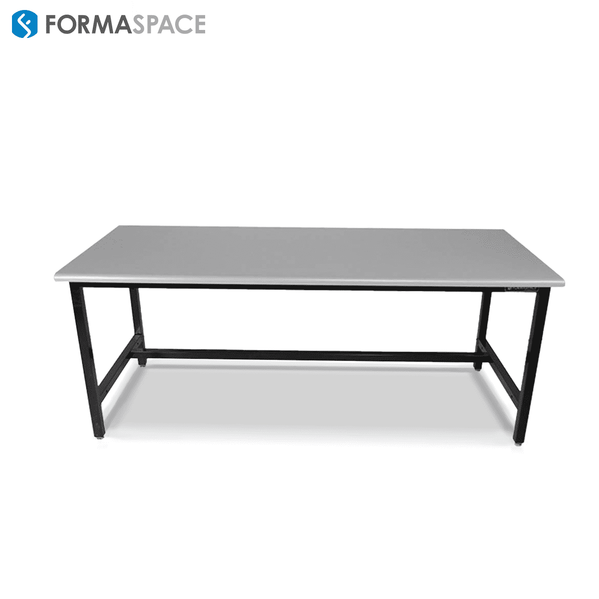Basix workbench with gray laminate countertop