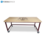 Basix Bench with Maple Top & A&M logo walnut inlay