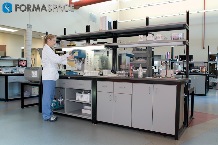 Hematologist at Sample Processing Bench