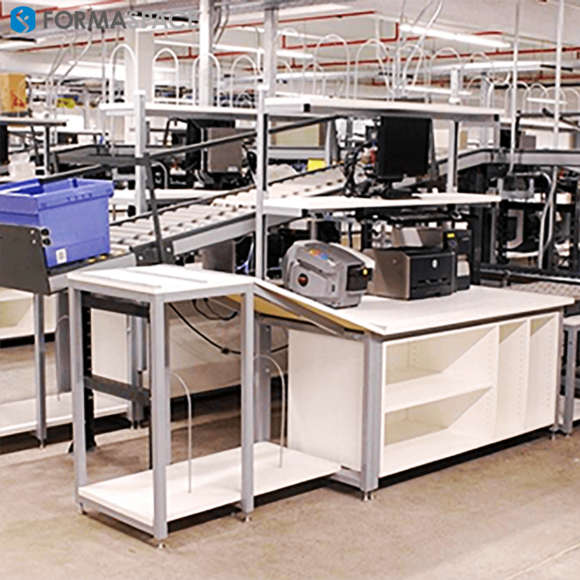 Fully Integrated Material Handling Station with Roller Ball Scales
