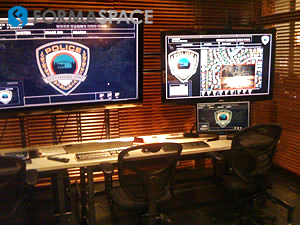 police command monitoring work station