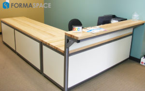 reception desk for secretary station bench plus