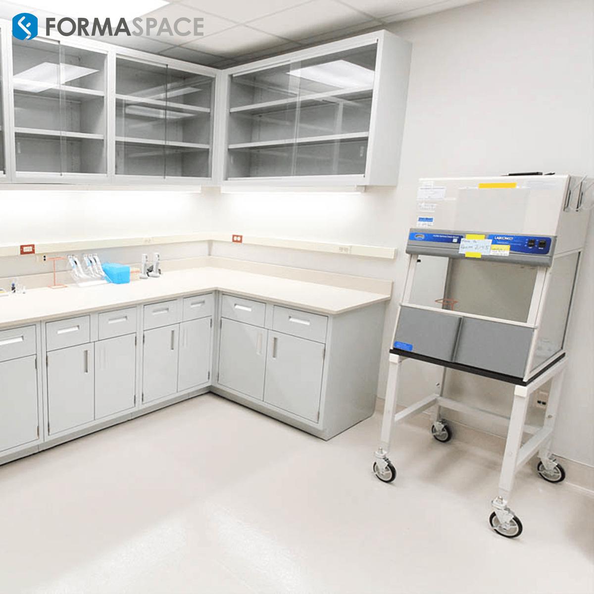 corner laboratory casework