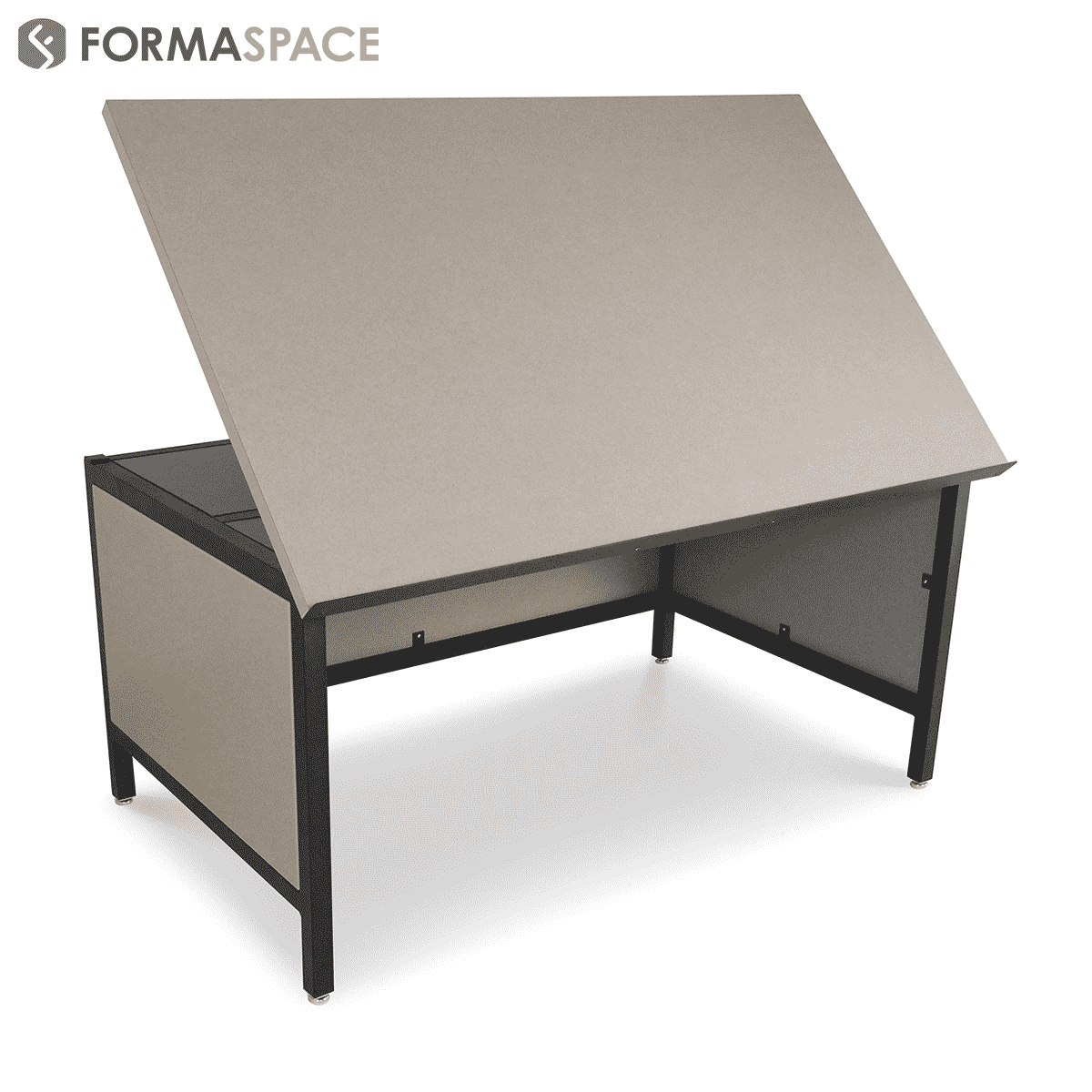 Drafting table with lower modesty panels