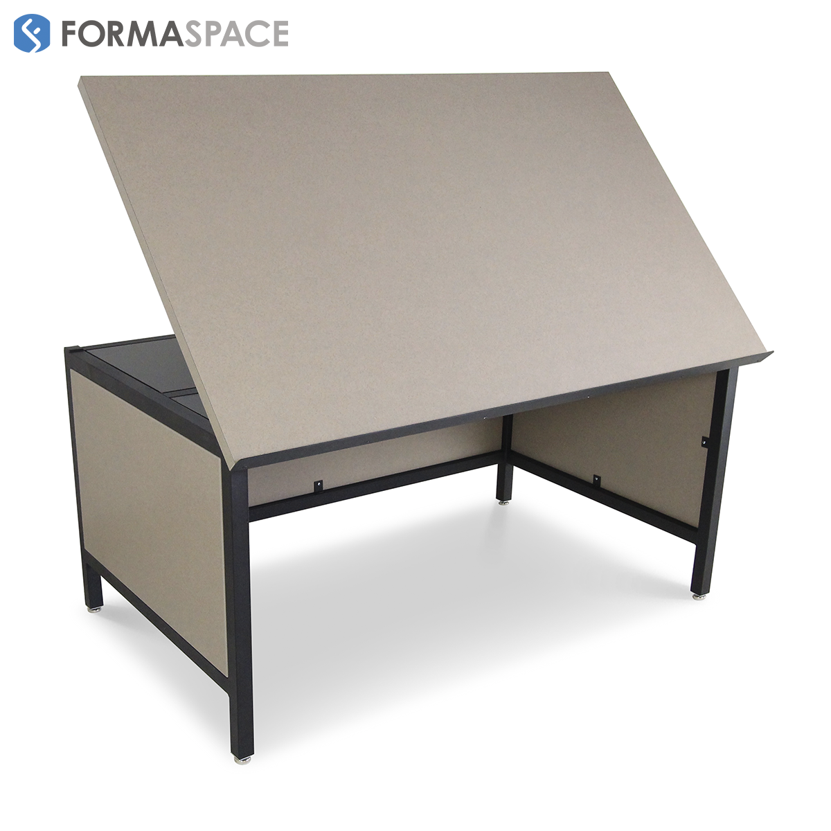 Drafting table with Modesty Panels
