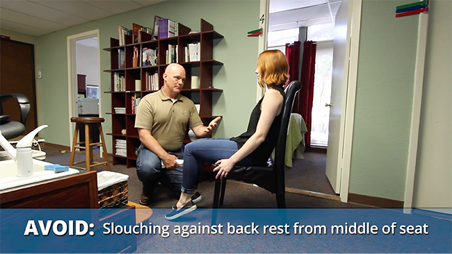 Don't slouch against back - Formaspace