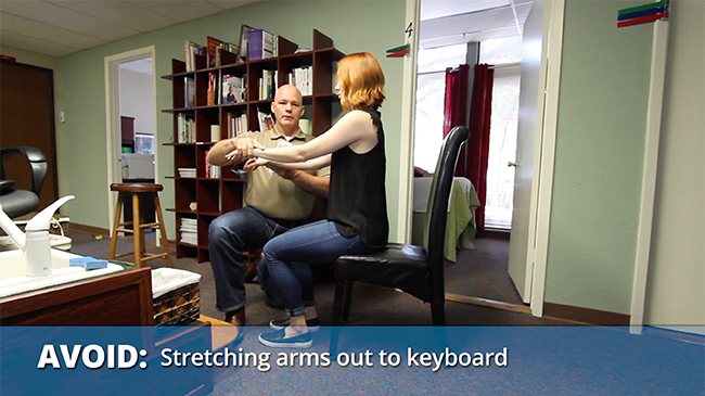 Don't stretch arms out to keyboard - Formaspace