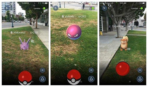 pokemon go in action