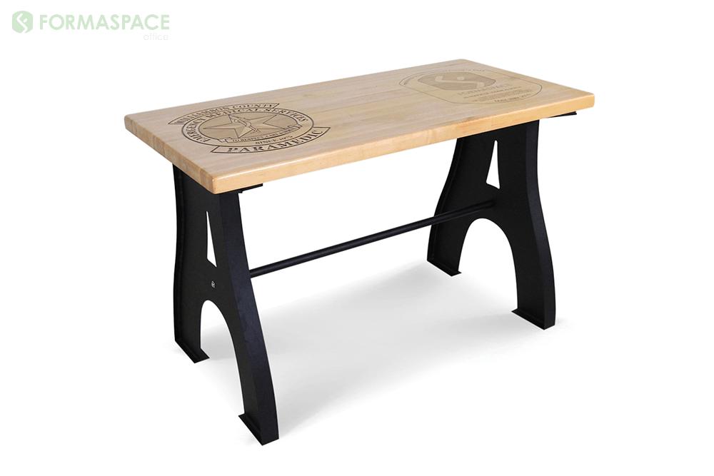 custom engraved wood table