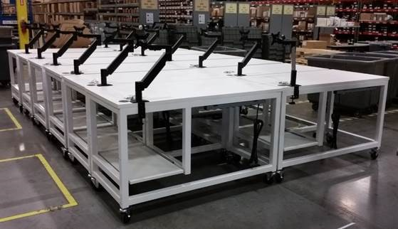 custom packing stations for a warehouse in East Coast