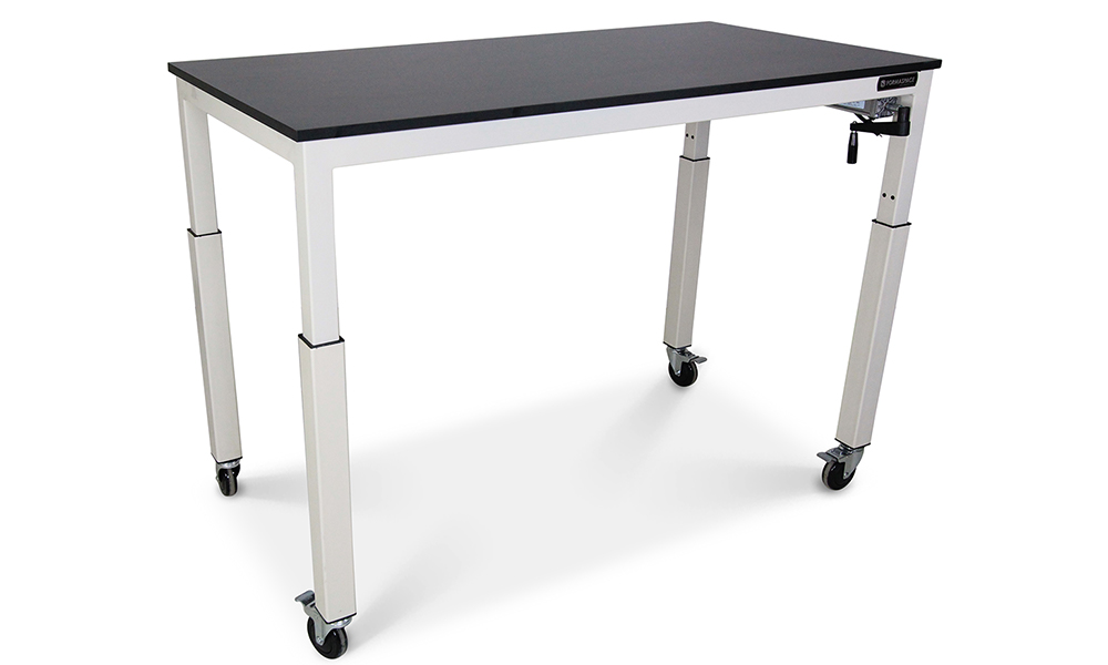 Height Adjustable Mobile Lab Bench