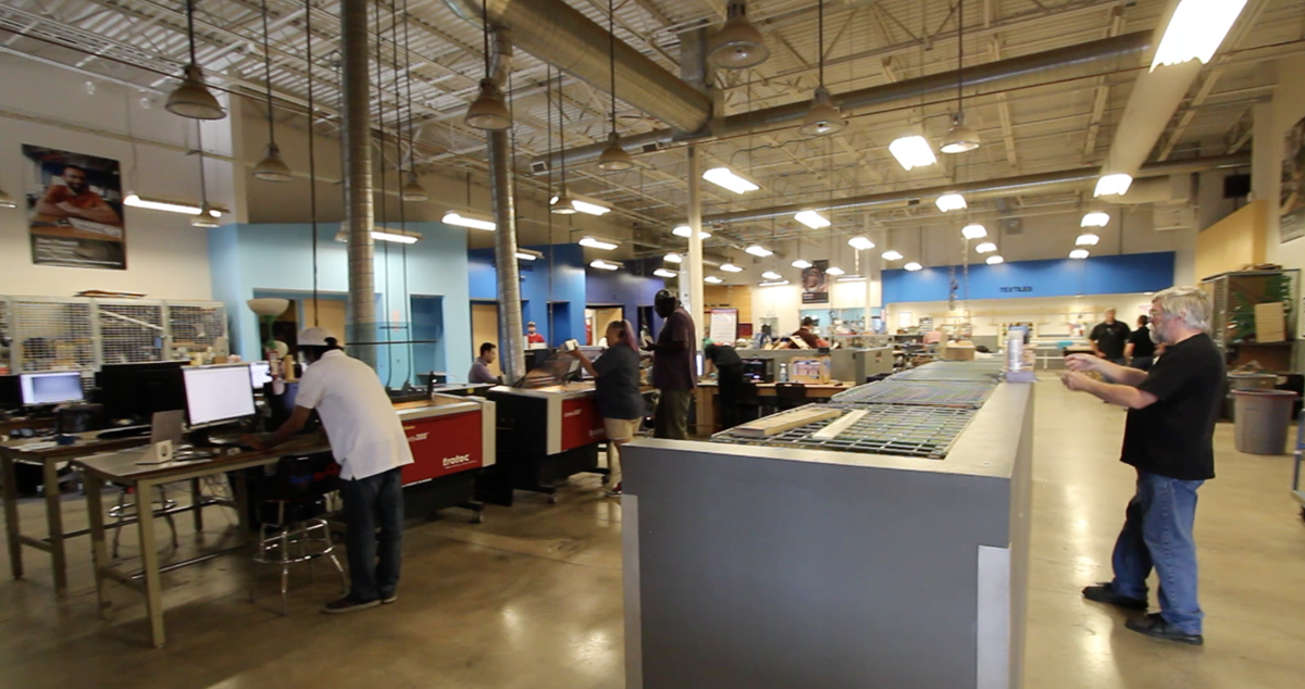 Inside Techshop-Austin
