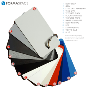 formaspace steel powder coat colors