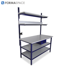 Industrial Workbench Benchmarx with Upper and Full Depth Lower Shelves