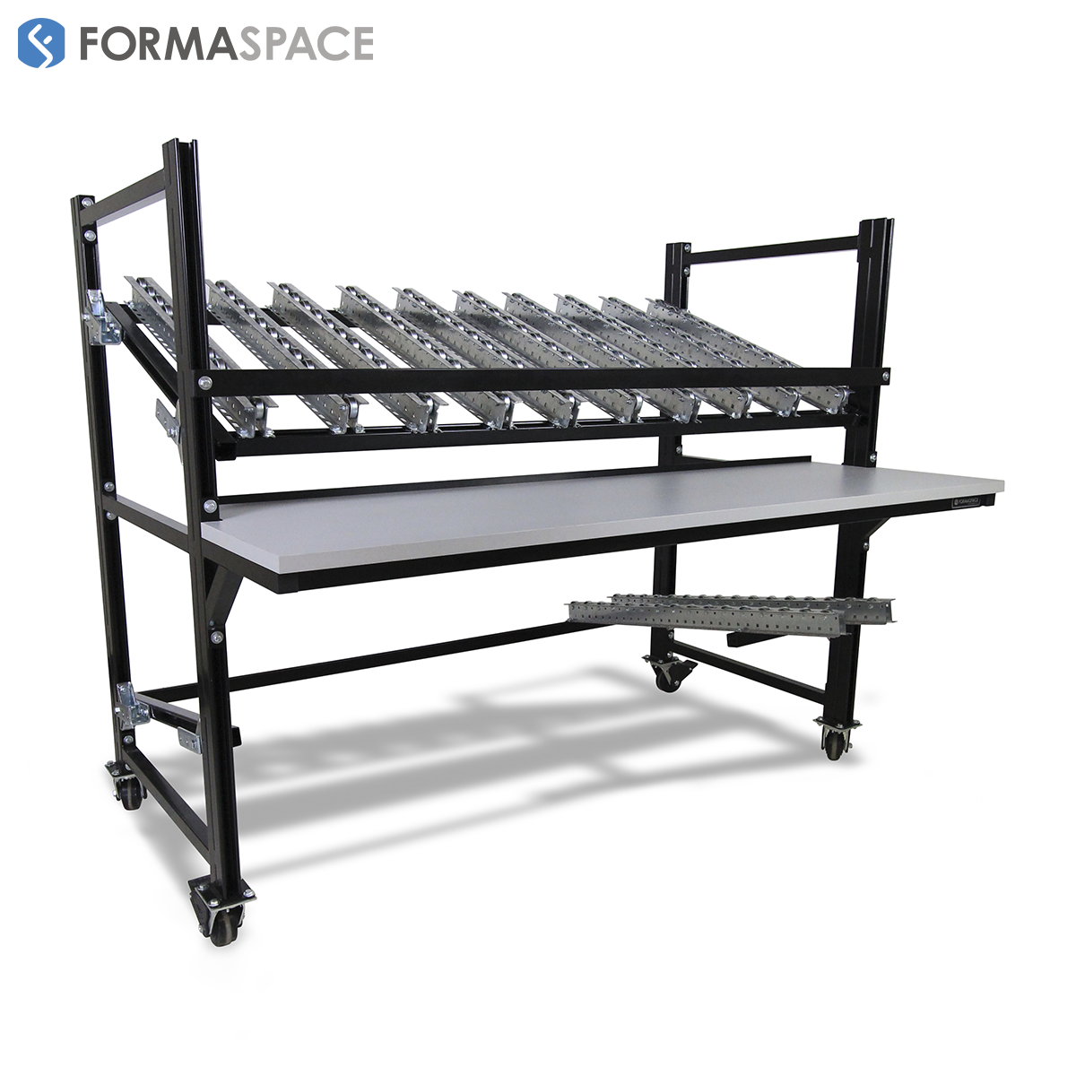 Mobile Flow Rack with Loading & Unloading Rails