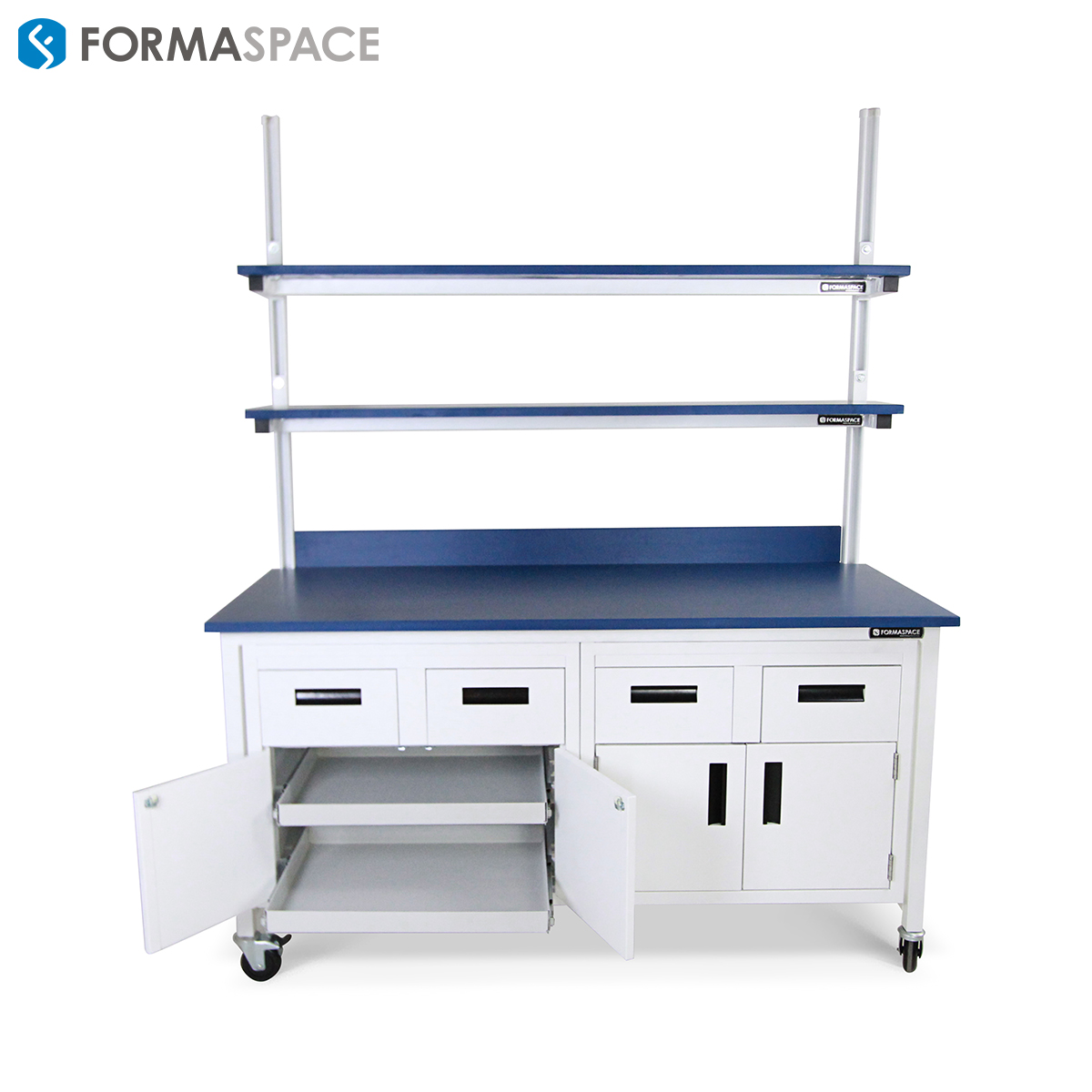 Laboratory Benchmarx with Sliding Shelf Cabinetry System