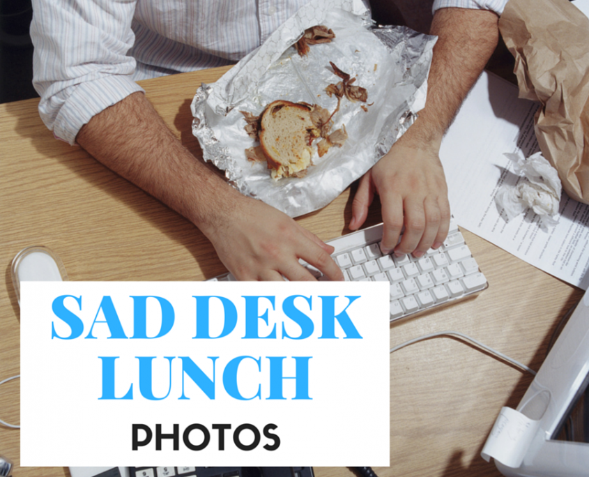 Sad Desk Lunch Photos by The Huffington Post