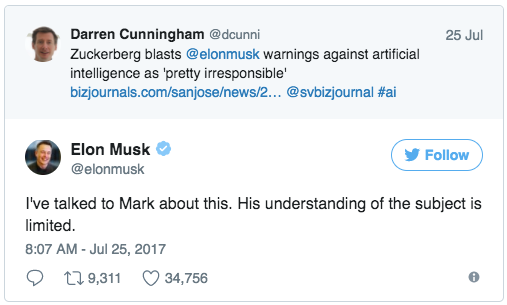 Elon and Mark Tweets