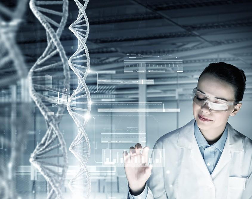 futuristic lab