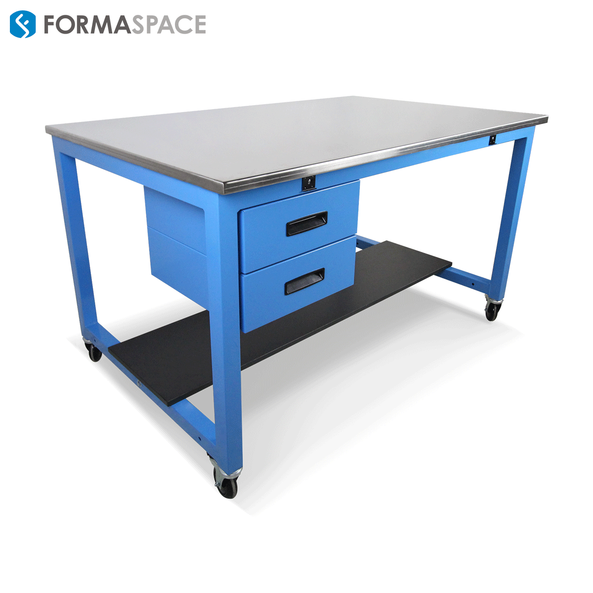 Basix™ with Blue Frame and SS Worksurface