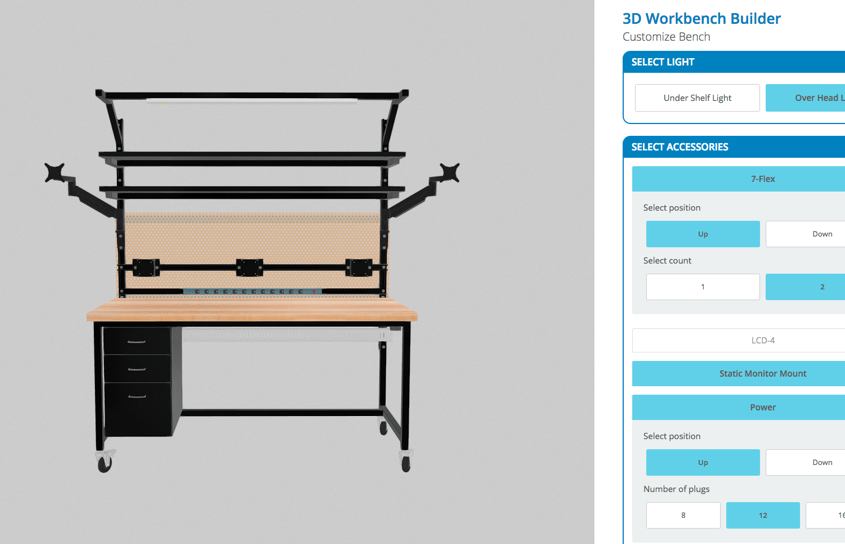 workbench 3d configure tool