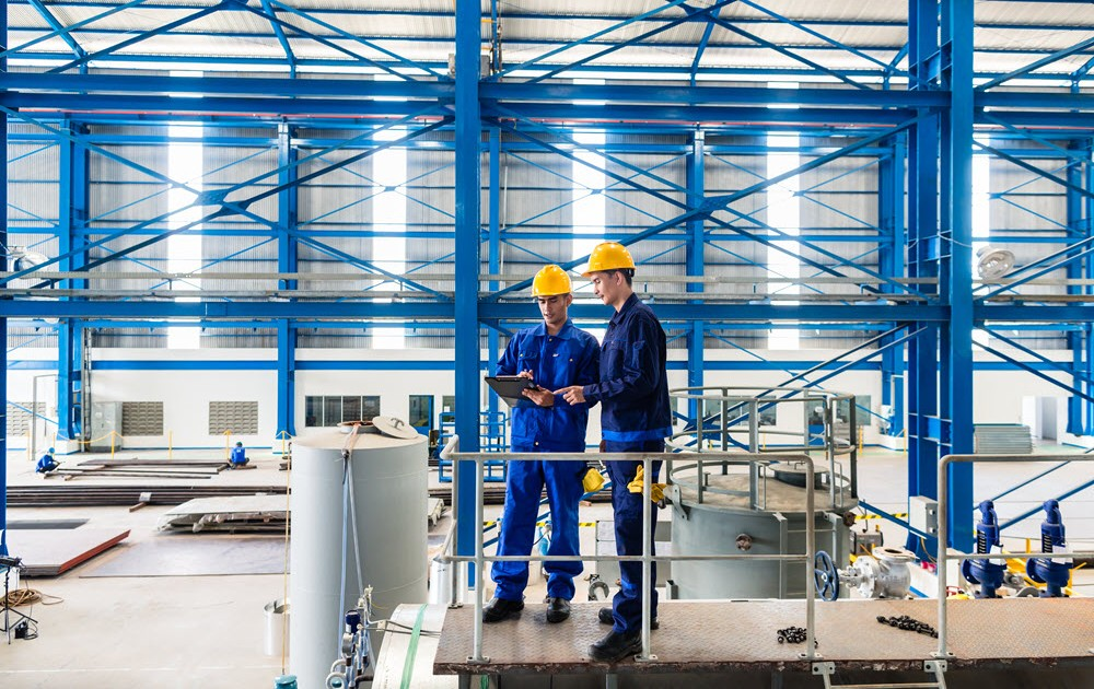 Workers in a Manufacturing Plant