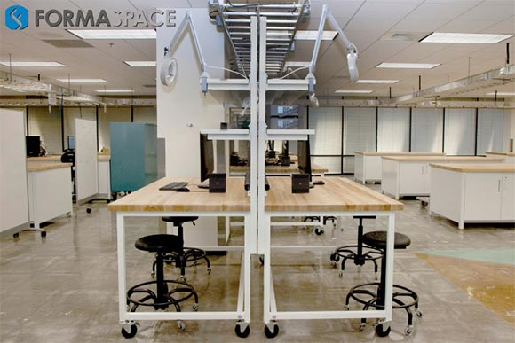 Formaspace Benchmarx workbench installation at the University of Texas at Dallas