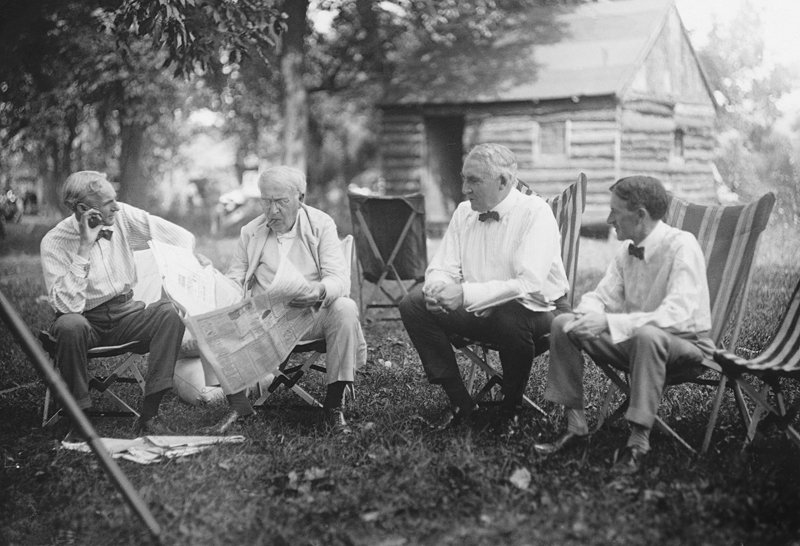 Image result for The Richest 1% of the 1920's: Henry Ford, Thomas Edison, President Warren G. Harding and Harvey Firestone (1921)