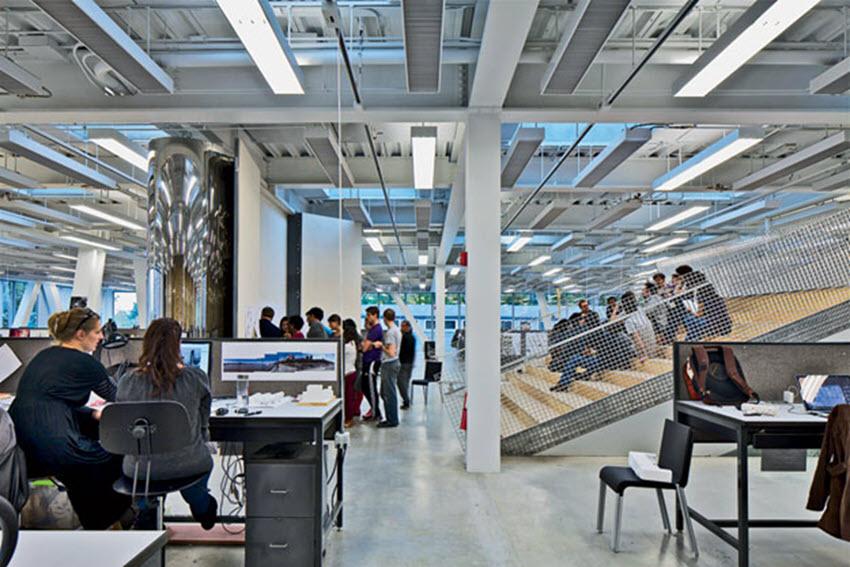Summer renovation inspiration for educational facilities workbench industrial furniture for Cornell interior design undergraduate
