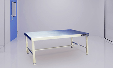 heavy duty stainless steel clean room gowning bench