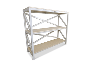 industrial white storage rack