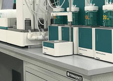 lab instrumentation sample processing bench