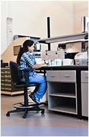 sample processing mosaic laboratory chair