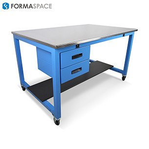 stainless steel top workbench with drawers