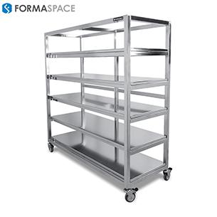 clean room gallery stainless steel shelf