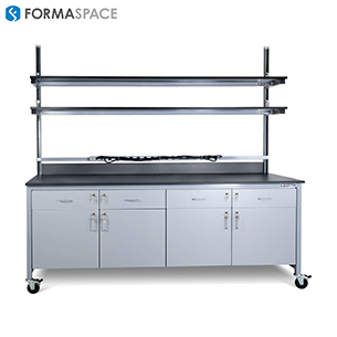 clean room mobile benchmarx with upper and lower storage