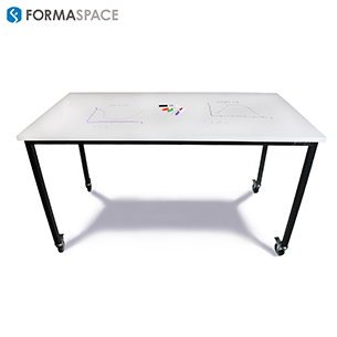 education drafting table with privacy panels