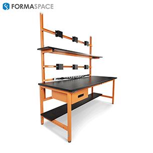 custom orange esd monitoring workbench