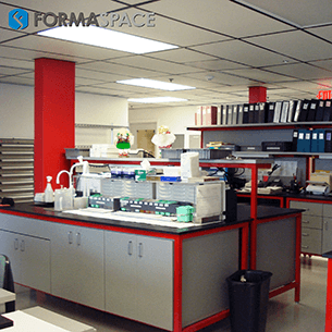 healthcare lab bench
