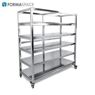 custom stainless steel storage racks