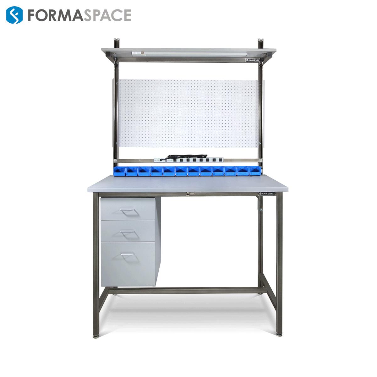 benchmarx with blue bins