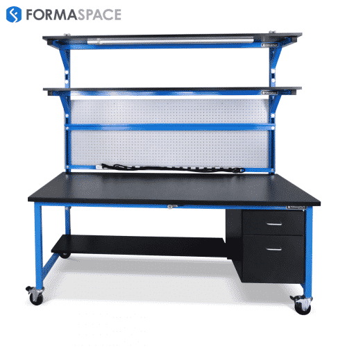 industrial workbench blue frame