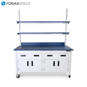 Laboratory Benchmarx™ with Sliding Shelf Cabinetry System