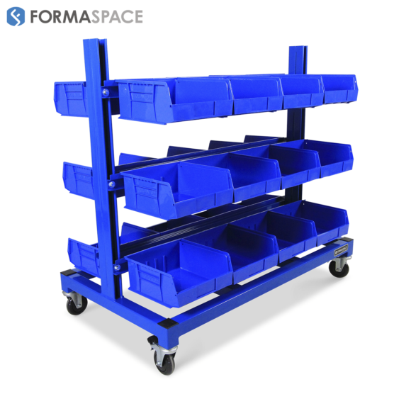 Mobile Bin Shelving Storage Unit